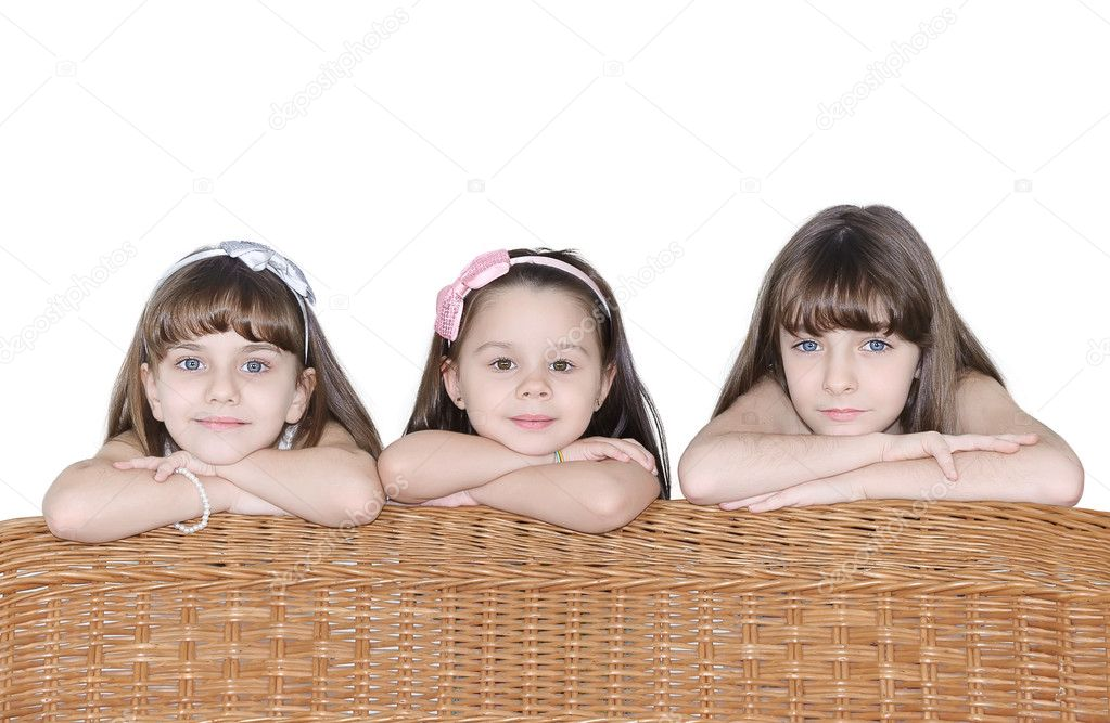 Happy children isolated on a white background — Stock Photo #6091251