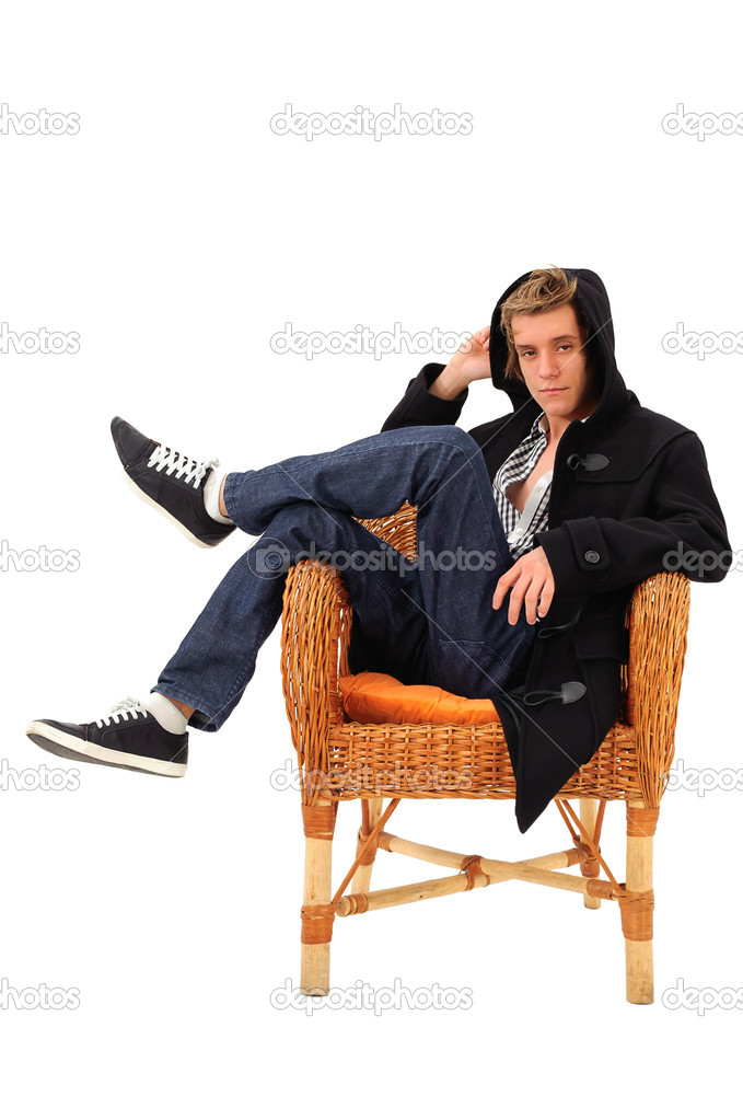Man sitting on an armchair stock photo svitlana10 6091349 for Sitting in armchair