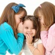 Girls telling a secret — Stock Photo