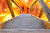Wooden Stairway to Hell — Stockfoto