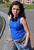 Mulher grávida — Fotografia Stock