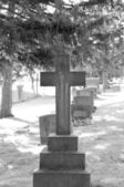 Christ in cemetery — Stock Photo