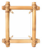 Bamboo frame with white area for your text — Stock Photo