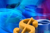 Digital illustration of Dollar sign — Stock Photo