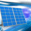 Stock Photo: Mono-crystalline solar panels