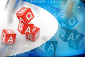 Faq cube — Stock Photo