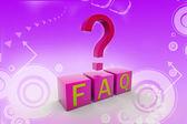 Simbolo di domande frequenti — Foto Stock