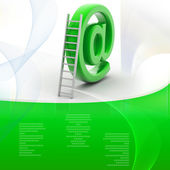 E-mail symbol and ladder — Stock Photo