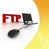 Conexão ftp — Fotografia Stock