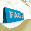 Highly rendering of faq in attractive  background — Stock Photo