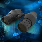 3d binoculars — Stock Photo