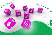 Symbols of percent cubes — Stock Photo
