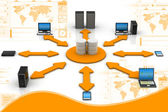 Network Database — Stok fotoğraf