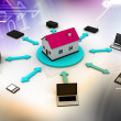 Home Communication concept - Stockfoto