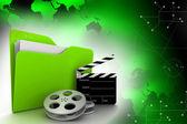 Folder and film stuff — Stock Photo