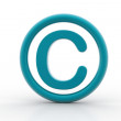Copyright symbol — Stock Photo