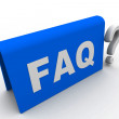 Help faq — Stock Photo