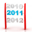 new year 2011 — Stock Photo