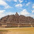 borobudur temple in indonesia — Stock Photo