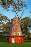 Old red windmill — Stock Photo