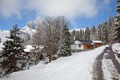 Casa de vacaciones de invierno — Foto de Stock