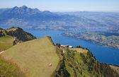 以上阿尔卑斯山 — 图库照片