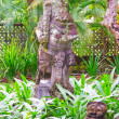 Foto Stock: Statue in temple near Ubud, Bali