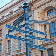 Sign showing directions — Stock Photo