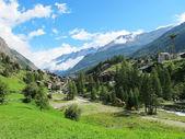 Weergave van zermatt vallei — Stockfoto