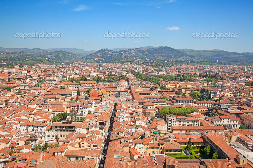Aerial view of the Florence, Italy — Stock Photo #6534550