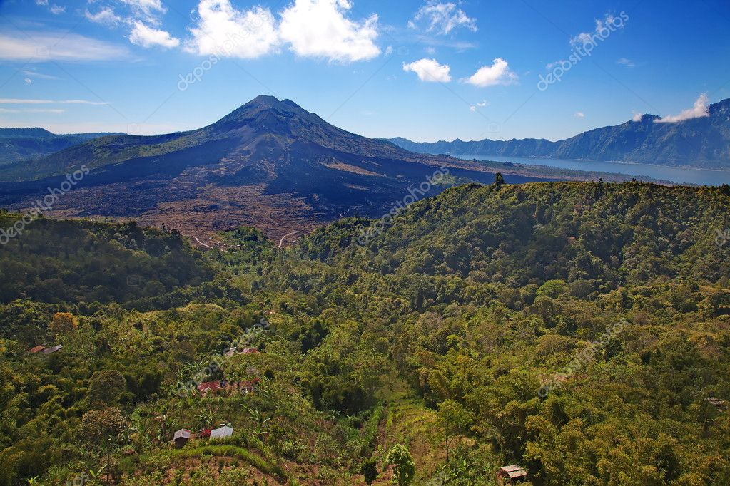 Batur. Active volcano on the Bali island  Stock Photo #6534722