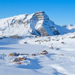 Winter in the alps - Stock Photo