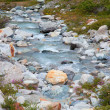 Small alpine river — Stock Photo
