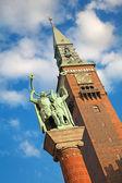 Estátua de ventiladores de atração — Foto Stock