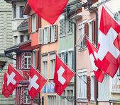 Old street in Zurich — Stock Photo