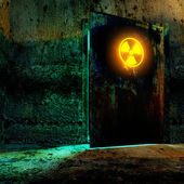 Radiation danger zone — Stock Photo