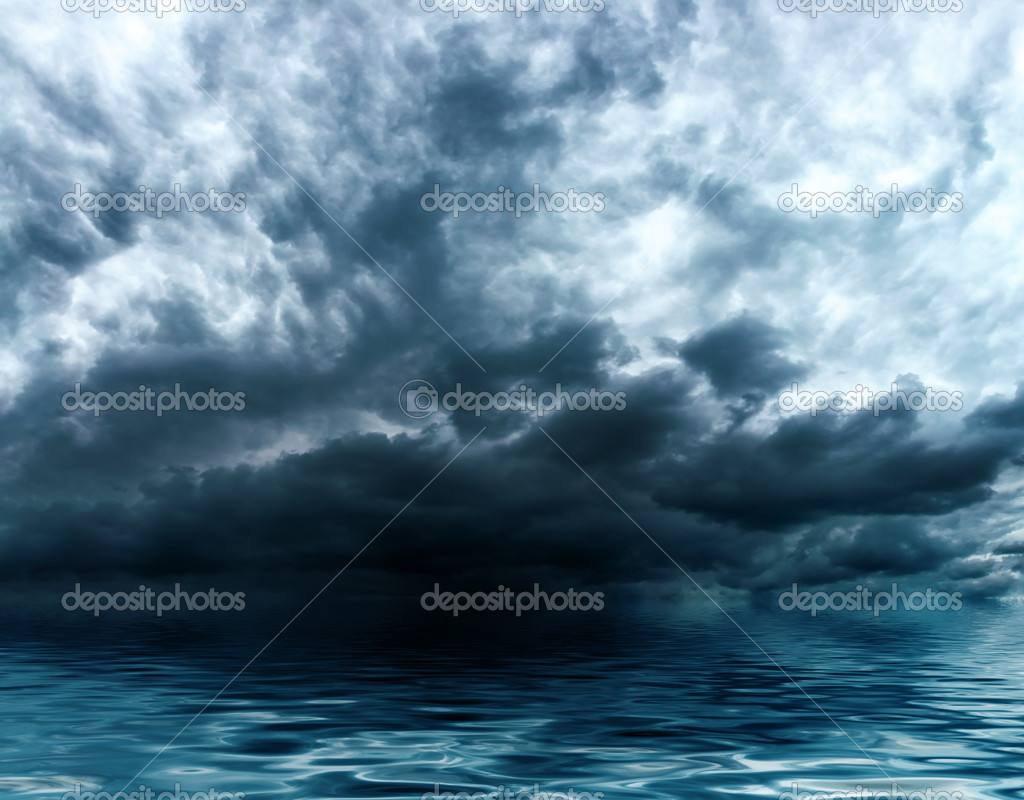 Storm clouds over water surface — Stock Photo #5604439