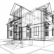 House construction sketch — Stock Photo
