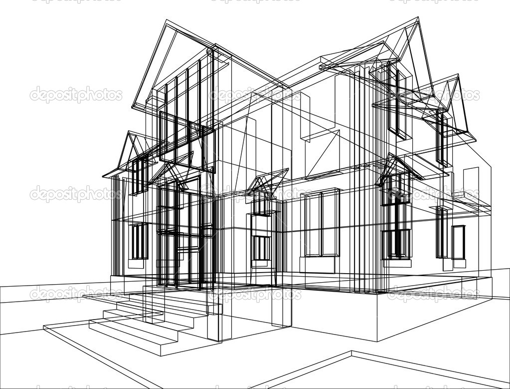 Desenho de constru o de casa fotografias de stock for House of 950