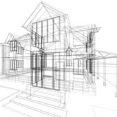 Sketch of house — Stock Photo