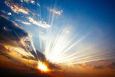 Pôr do sol colorido — Foto Stock