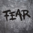 Постер, плакат: Fear on grunge background