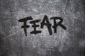 Fear on grunge background — Stock Photo