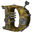 Steampunk letter d — Stock Photo #6199333