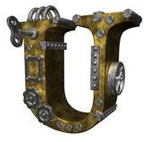Steampunk letter u — Stock Photo