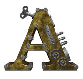 Steampunk letter a — Stock Photo