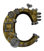 Steampunk letter c — Stock Photo