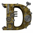 Steampunk letter d — Stock Photo #6689061