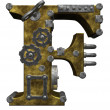 Steampunk letter f - Foto de Stock  