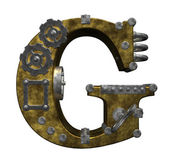 Steampunk letter g — Stock Photo
